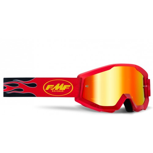 Powercore Youth Google Flame Red Mirror Red Lens