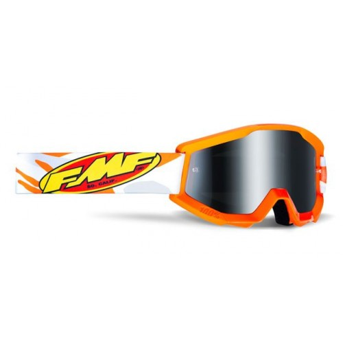 Powercore Youth Goggle Assault Orange Mirror Sliver Lens