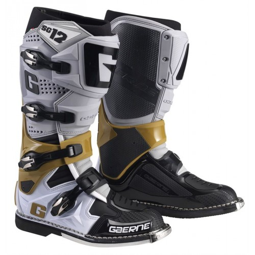 Gaerne - SG12 Grey/Magnesium/White MX Boots - Free Shipping On Orders Over £50