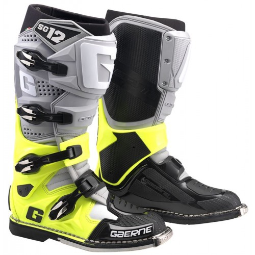 Gaerne SG12 Grey/Yellow/Black MX Boots