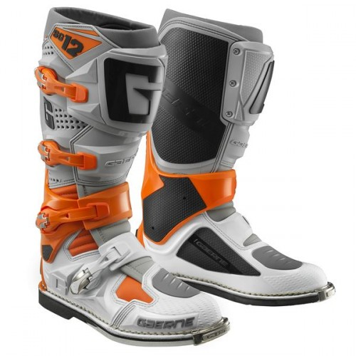 Gaerne - SG12 Ora/Gry/WH MX Boots - Free Shipping On Orders Over £50