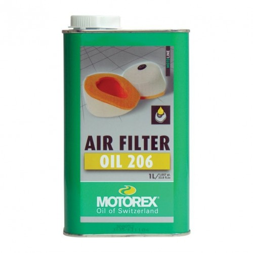 Motorex  - Air Filter Oil 206 Liquid (12) Blue 1L - Free Shipping On Orders Over £50