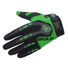 WULFSPORT - CUB ATTACK MX GLOVES GREEN - FREE SHIPPING ON ORDERS OVER £50