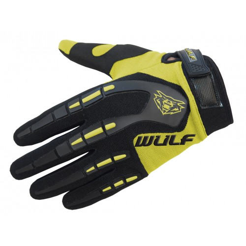 WULFSPORT - CUB ATTACK MX GLOVES YELLOW - FREE SHIPPING ON ORDERS OVER £50